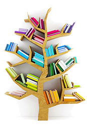 library tree of books